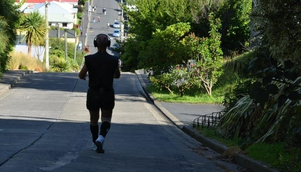 70 year old guy fit jogging
