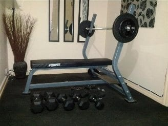 Bench press & dumbbells