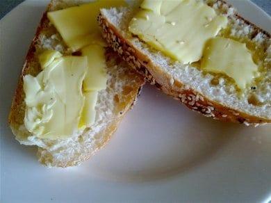 Sometimes plain butter on bread is best