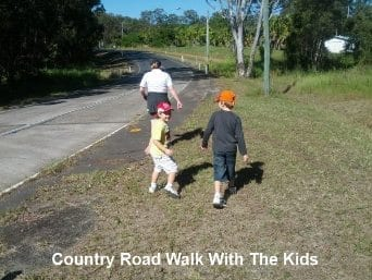 Country walk with kids