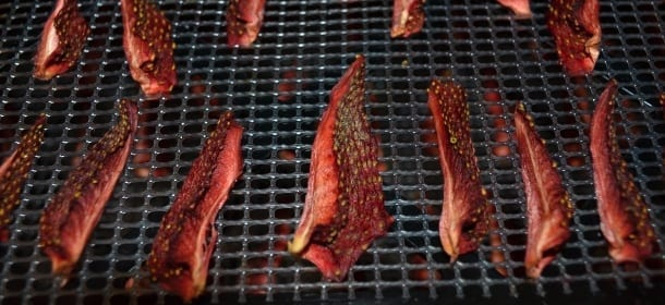 Dehydrated strawberries done in Excalibur dehydrator