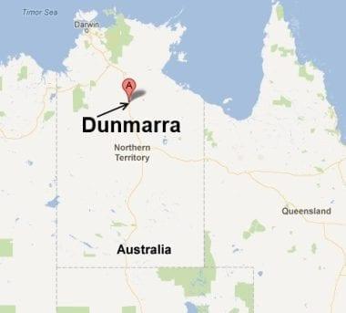 Map of Dunmarra NT jogging
