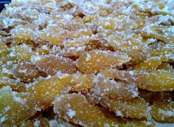 Mild candied ginger