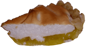 Gluten free Lime meringue pie slice
