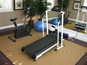 Home Gym treadmill and bike