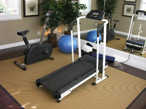 Home Gym treadmill and bike