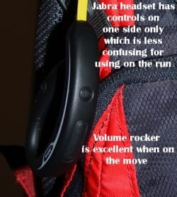 Jabra Sports wireless headset controls