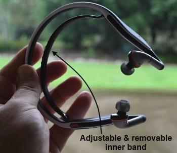 Motorola s11 flex HD Wireless Stereo Headphones inner band 350