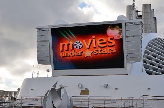 Movies under the stars on Sea Princess cruise ship