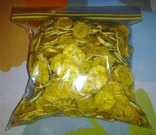 Dried Banana Chips Packaged