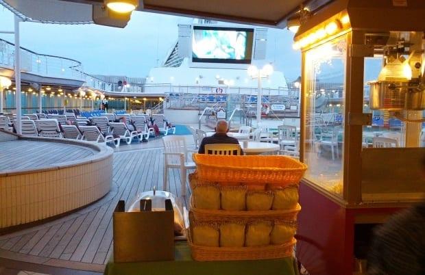 Pop corn machine for the movies on Sea Princess Cruise ship