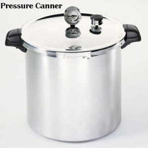 Pressure canner for sterilisation of jars and bottles foods at high temp