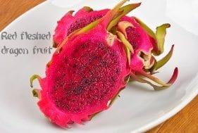 Red fleshed dragon fruit