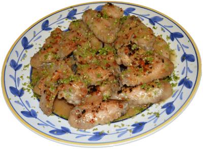 Thai inspired roasted chicken wings lemongrass on plate