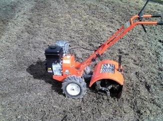 Tiller/rotary hoe in dirt