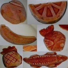 Frozen chilli paste shapes