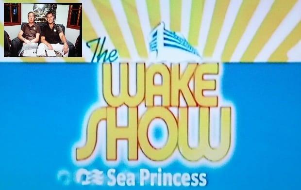 Wake show Sea Princess cruise ship