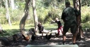catching chicken