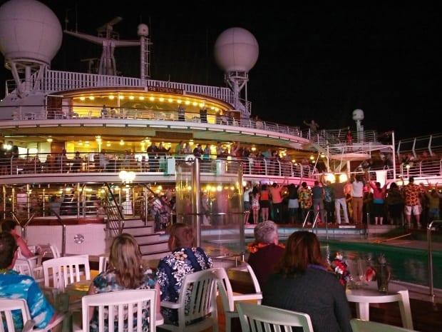evening party on Sea Princess cruise ship