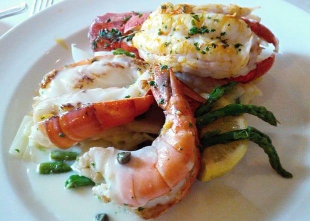 lobster meal on Sea Princess cruise ship