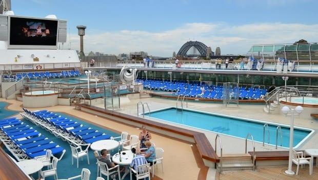 main pool swimming areas on Sea Princess cruise ship
