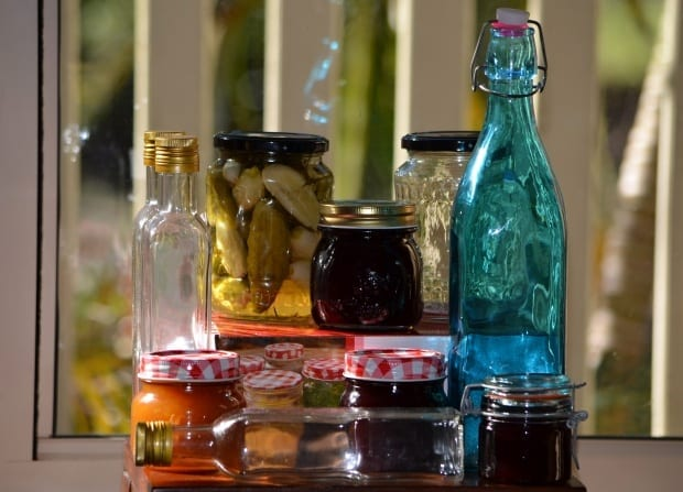 preserving jars and bottles