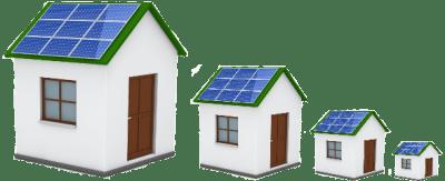 Solar house getting smaller