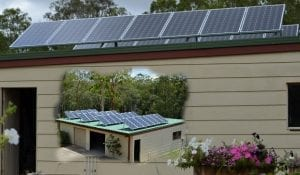 My solar 5kW system on shed roof