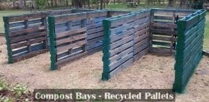 Compost bays made from recycled pallets