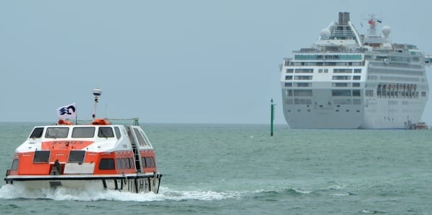 tenders on sea princess cruise ship when ancored in bay